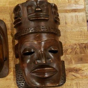 Vintage Carved Wooden Masks